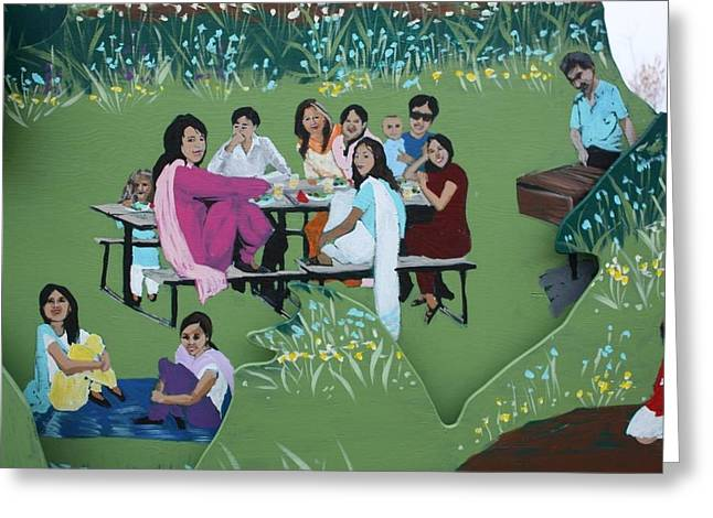 The Picnic Greeting Card by Jan Swaren