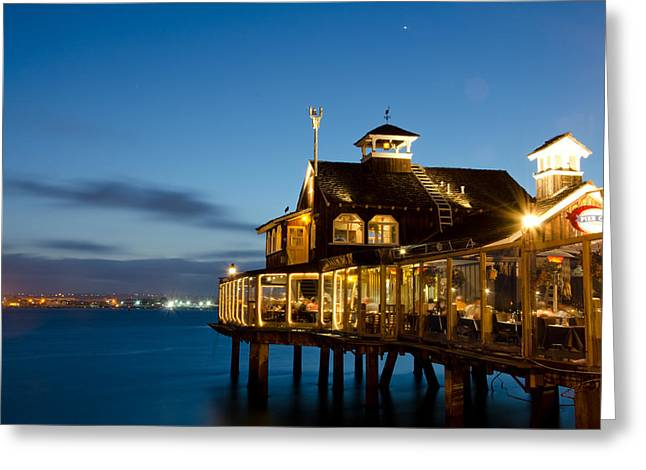 The Pier Cafe Greeting Card