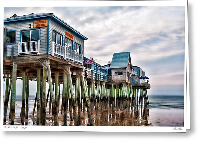 The Pier Greeting Card by Richard Bean