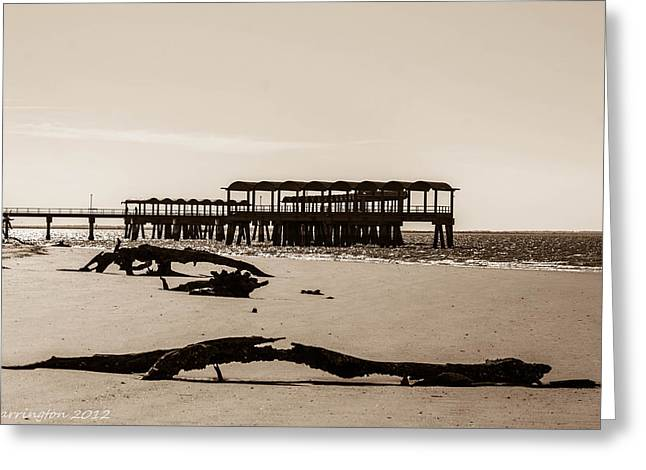 Greeting Card featuring the photograph The Pier by Shannon Harrington