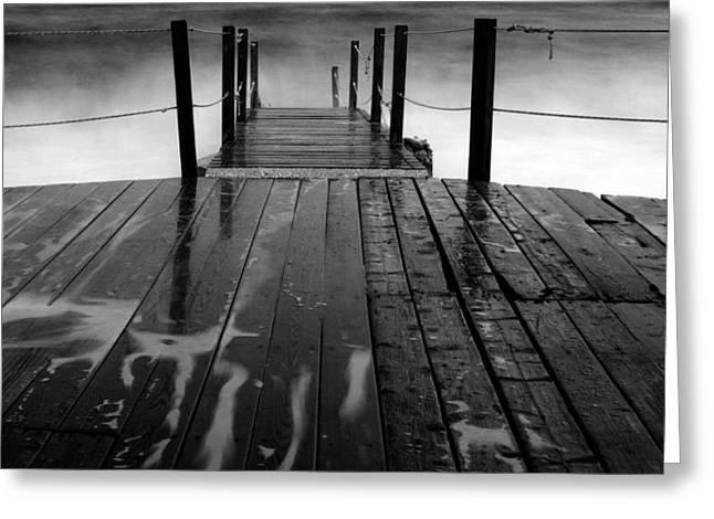 The Pier...protaras Greeting Card by Stelios Kleanthous