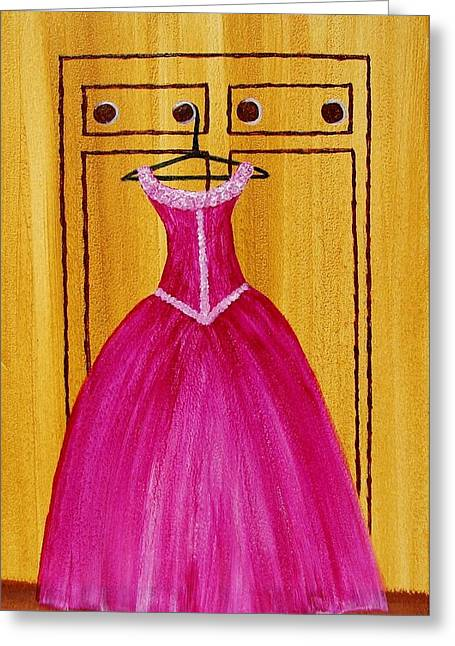 The Pink Dress 4535 Greeting Card by Jessie Meier