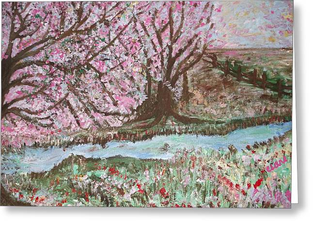 The Pink Tree Greeting Card