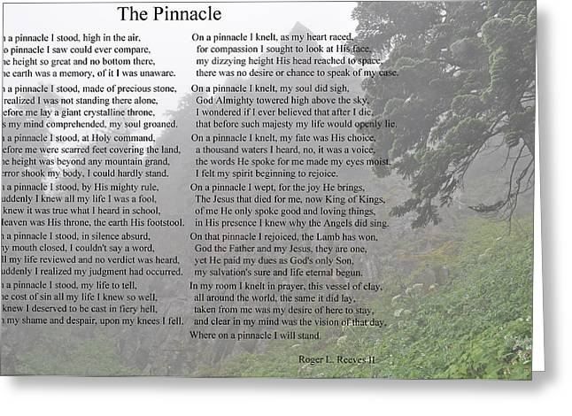 Greeting Card featuring the photograph The Pinnacle by Tikvah's Hope