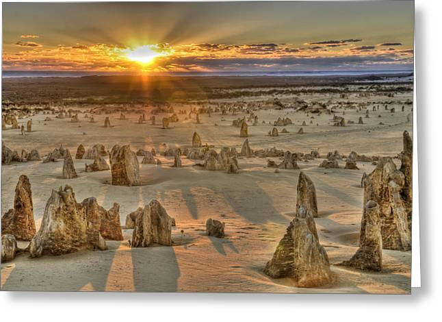 The Pinnacles Greeting Card