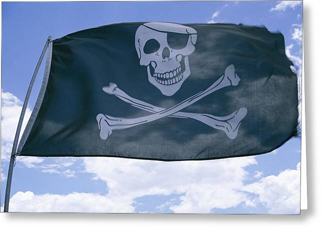 The Pirate Flag Known As The Jolly Greeting Card by Stephen St. John