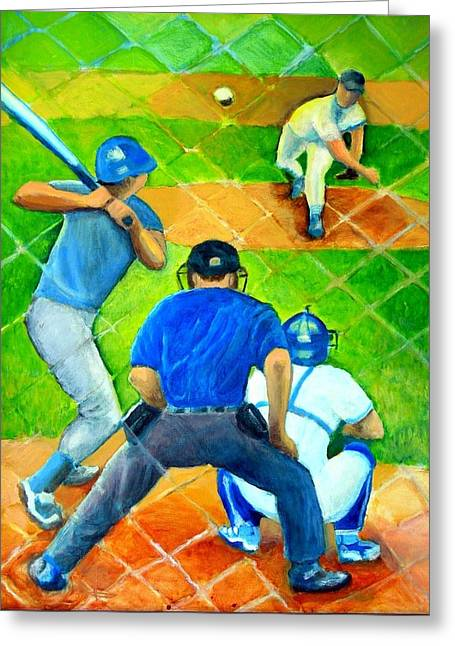 The Pitch Greeting Card by Steve Leibowitz