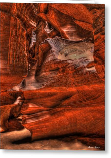 The Place Where Water Runs Through Rocks Greeting Card by Darryl Gallegos