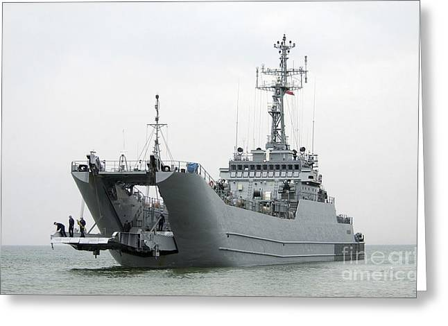 The Polish Lublin-class Minelayer Orp Greeting Card by Stocktrek Images