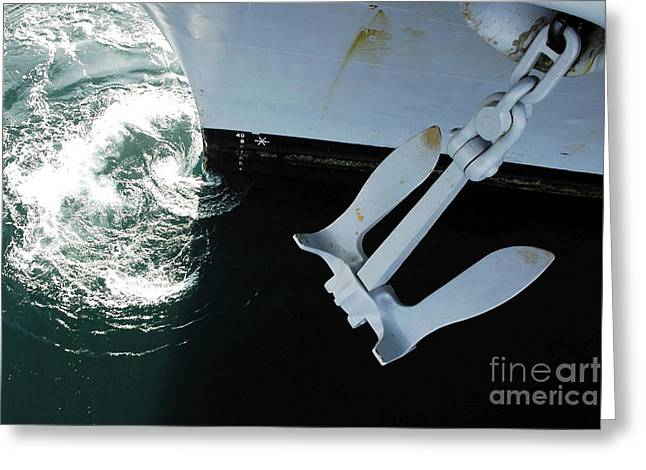 The Port Side Mark II Stockless Anchor Greeting Card by Stocktrek Images