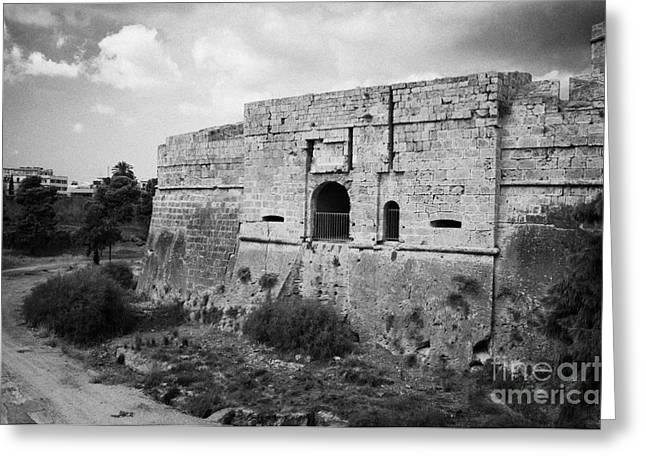 The Porta Di Limisso The Old Land Gate In The Old City Walls Famagusta Turkish Republic Cyprus Greeting Card