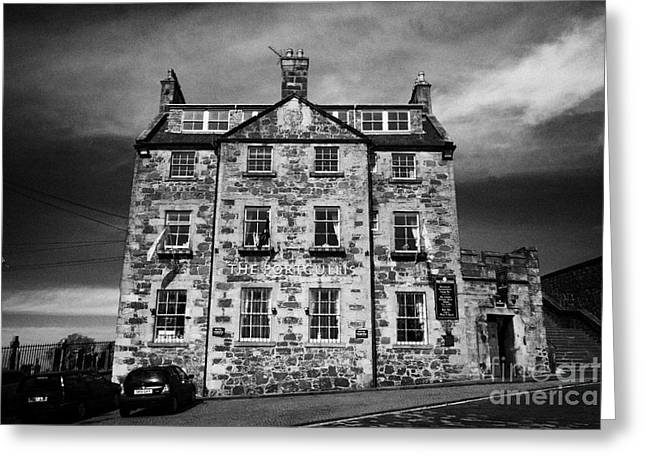 The Portcullis Hotel Formerly The Old Grammar School In The Historic Old Town Of Stirling Scotland U Greeting Card