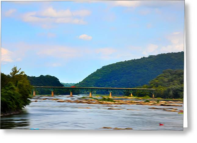 The Potomic River West Virginia Greeting Card by Bill Cannon