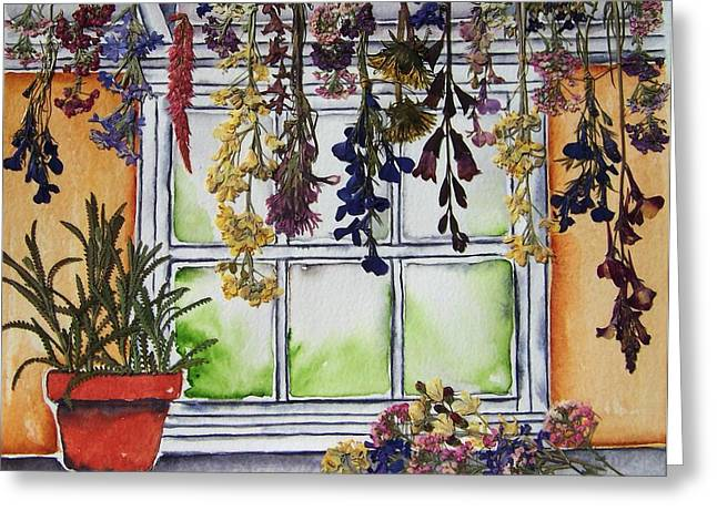 The Potting Shed II Greeting Card by Regina Ammerman
