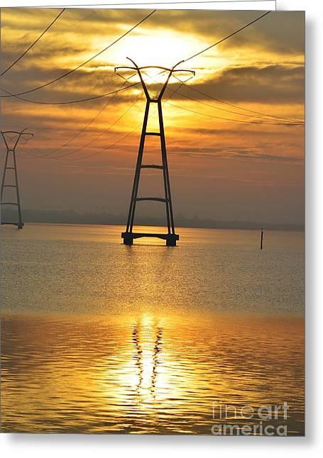 The Power Of Dawn Greeting Card by Lynda Dawson-Youngclaus