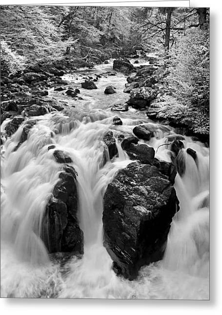 The Power Of Waterfall Greeting Card