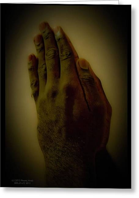 The Praying Hands Greeting Card by David Alexander