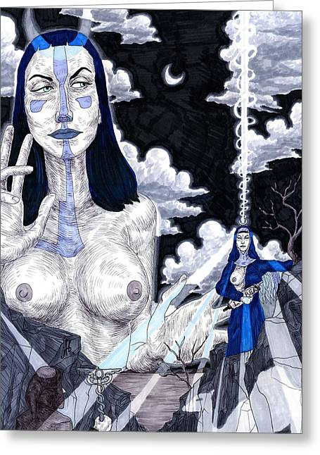 The Priestess Greeting Card by Jeremy Baum