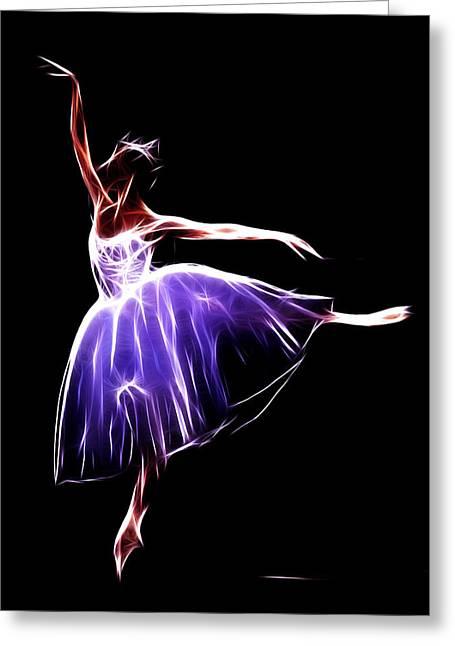 The Princess Dancer Greeting Card by Steve K