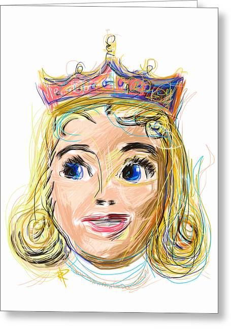 The Princess Greeting Card by Russell Pierce