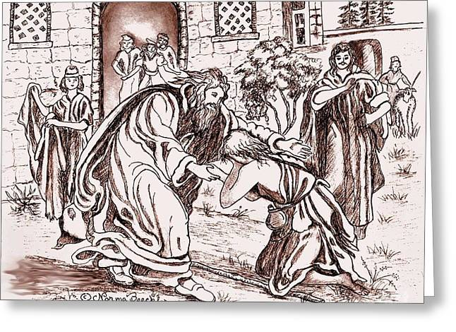 The Prodigal Son Greeting Card by Norma Boeckler
