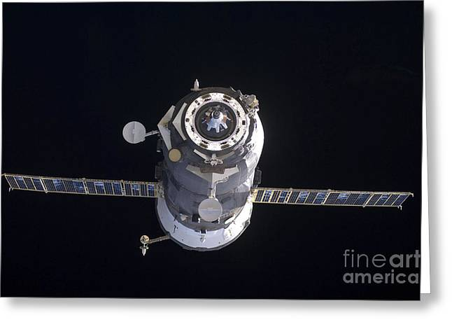 The Progress 40 Resupply Vehicle Greeting Card by Stocktrek Images