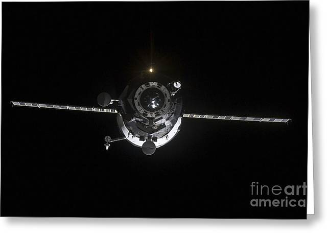The Progress 41 Resupply Vehicle Greeting Card by Stocktrek Images