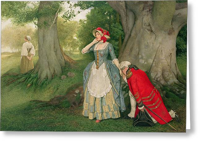The Proposal Greeting Card by Sir James Dromgole Linton