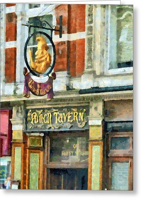 The Punch Tavern At 99 Fleet Street In London Greeting Card by Steve Taylor