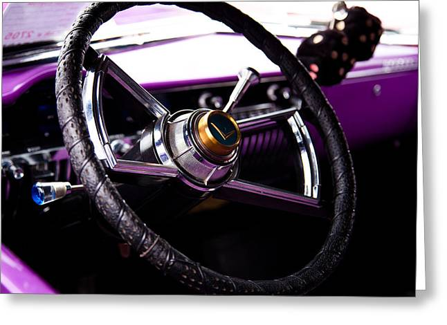 The Purple 1950 Mercury Greeting Card by David Patterson