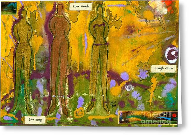 The Purpose Seekers Greeting Card by Angela L Walker