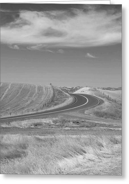 Greeting Card featuring the photograph The Quiet Road by Kathleen Grace