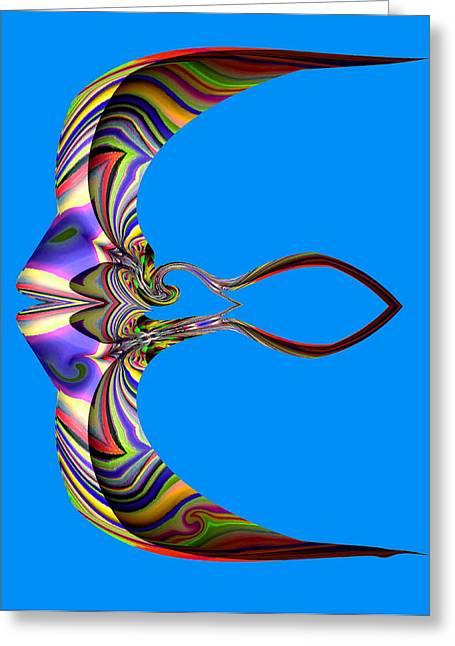 The Rare Mirror Fish Greeting Card by Visual Artist  Frank Bonilla