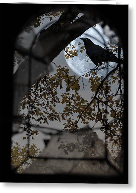 The Raven Greeting Card by Marie  Gale