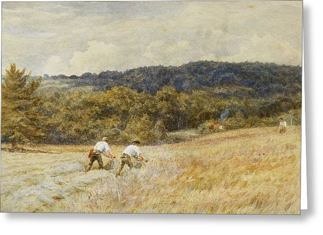 The Reapers Greeting Card by Helen Allingham