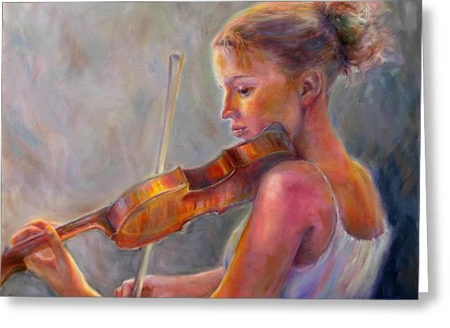The Recital Greeting Card by Bonnie Goedecke