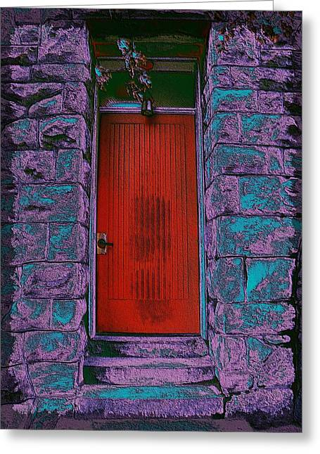 The Red Door Greeting Card by Tim Allen