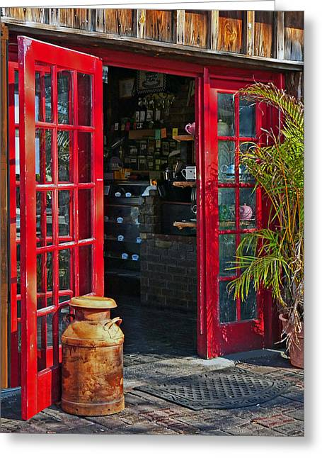 Greeting Card featuring the photograph The Red Doors by Judy  Johnson