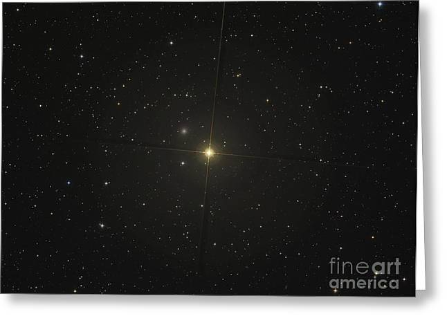 The Red Giant Star Beta Andromedae Greeting Card
