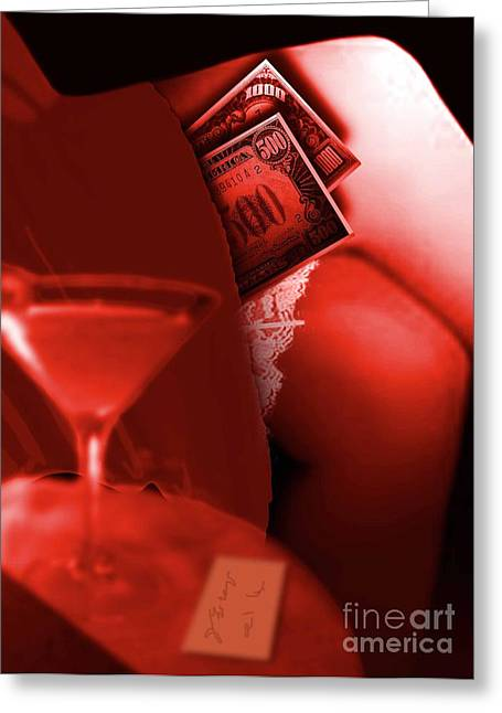 The Red Lounge Greeting Card