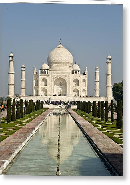 The Reflecting Pool In The Charbagh Or Greeting Card