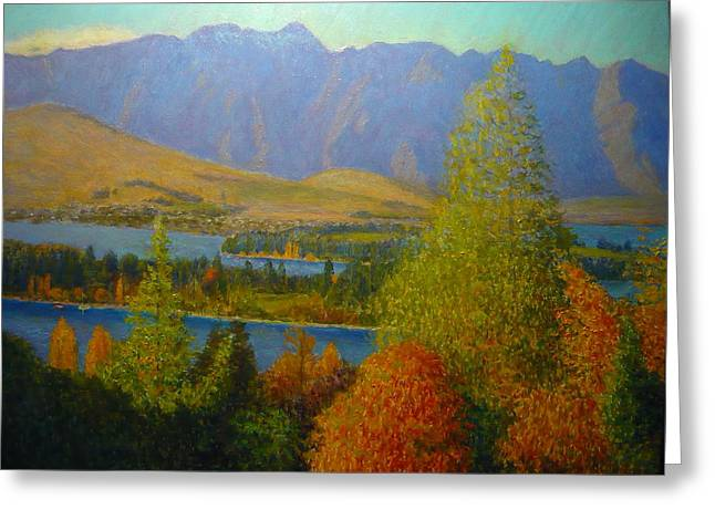 The Remarkables Autumn Greeting Card