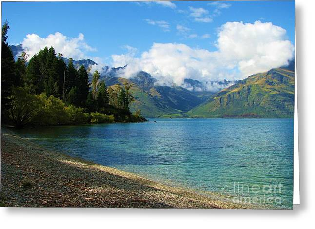 Greeting Card featuring the photograph The Remarkables by Michele Penner
