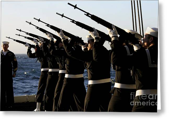 The Rifle Detail Aboard Greeting Card by Stocktrek Images