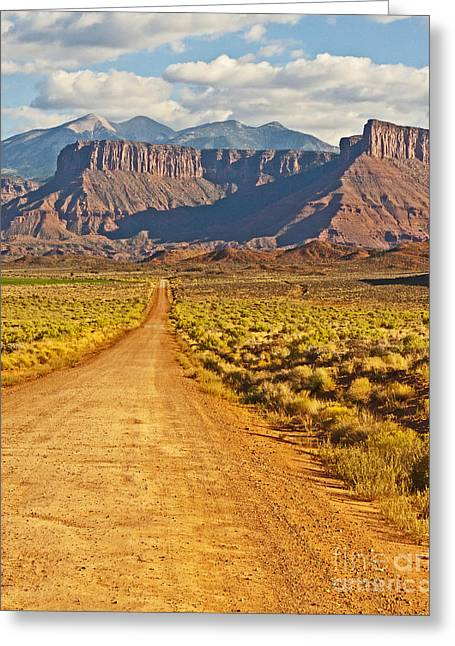 The Road Beckons Greeting Card by Bob and Nancy Kendrick