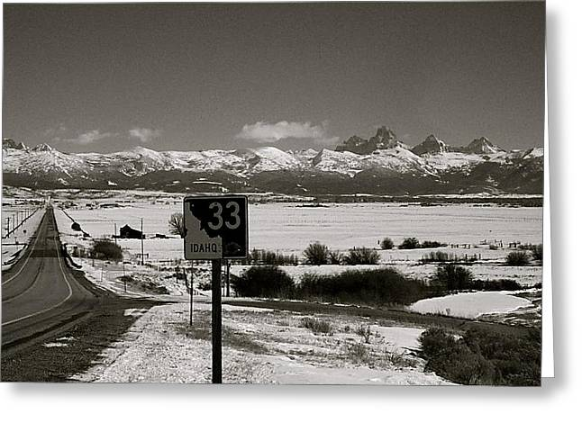 Greeting Card featuring the photograph The Road Home by Eric Tressler