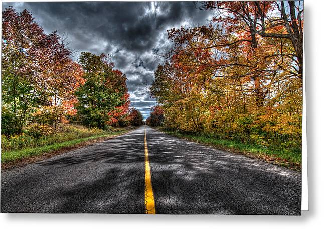The Road Less Travelled Greeting Card by Jeff Smith