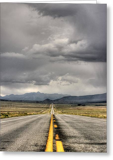 The Road Greeting Card by Stellina Giannitsi