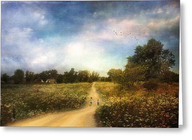 The Road That Leads To Home Greeting Card