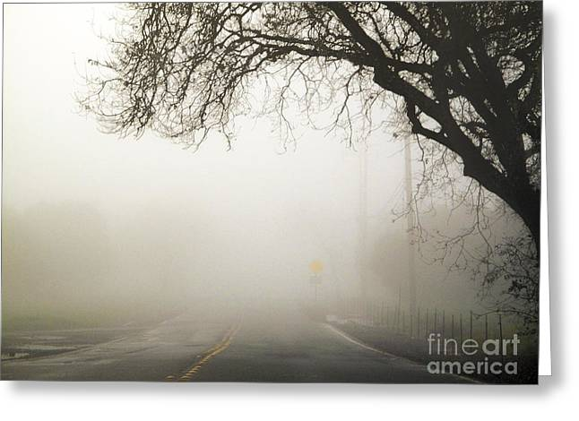 Greeting Card featuring the photograph The Road To Work by Leslie Hunziker